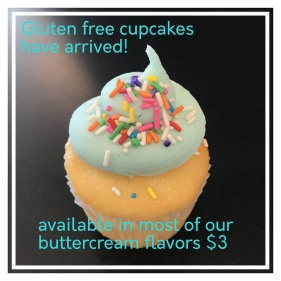 Gluten Free available in most icing flavors