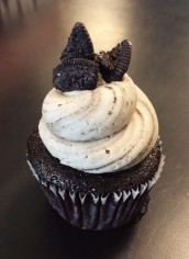 Cookies and Cream-Chocolate cake topped with oreo buttercream